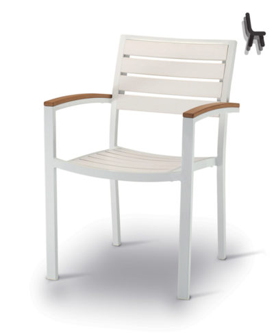 Art.ES 938 Poltroncina Esterno  Alluminio Doghe techno-wood