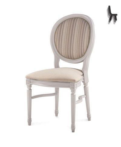 Sedia 324 Luigi XVI Impilabile Style Faggio o noce nazionale