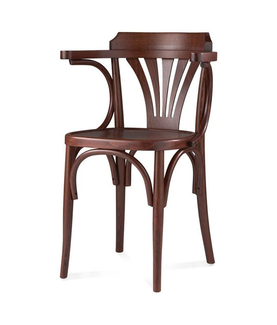 Sedia sedie curvato faggio mg sedie for Sedia antica con braccioli