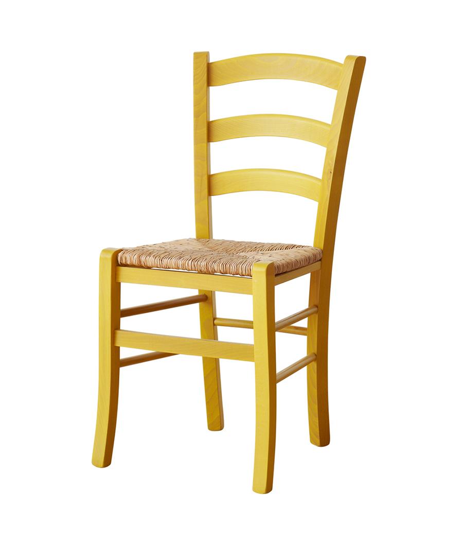 Sedia classico e rustico sedie faggio o frassino for Sedia da ufficio gialla